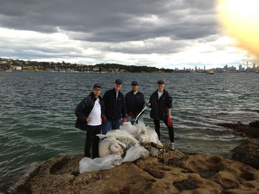 PIMCO Sydney – Foreshore Clean-Up