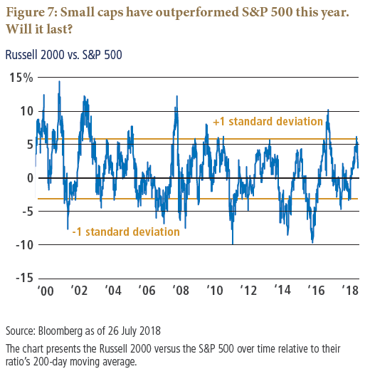 Asset Allocation Outlook Figure 7: Small caps have outperformed S&P 500 this year. Will it last?