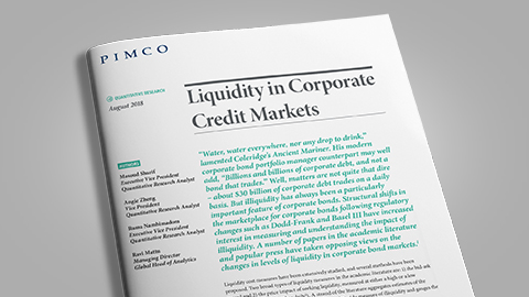 Liquidity in Corporate Credit Markets